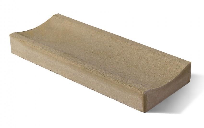 Лоток водоотводный бетонный BRAER ЛВ 50.20.6 песочный