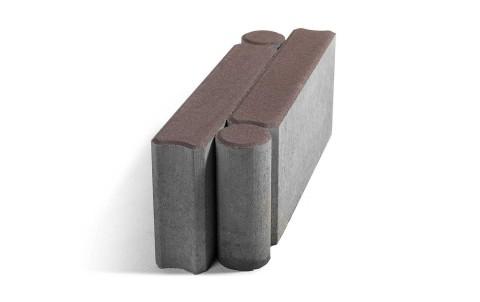 Тротуарный бордюр BRAER шарнирный БРШ 500*200*78 коричневый