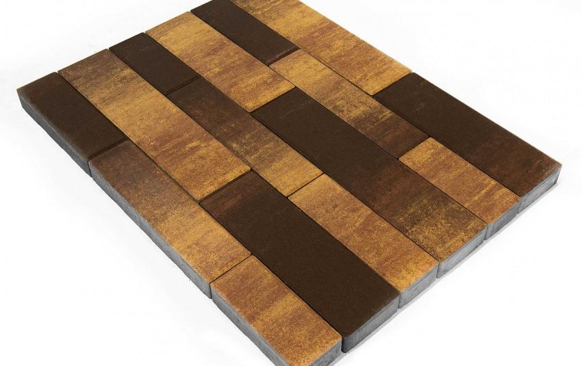 "Тротуарная плитка BRAER Домино, Color Mix ""Сафари"", высота 60 мм"