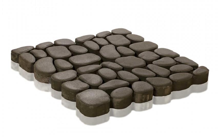 Тротуарная плитка BRAER Грин Галет, Серый, высота 80 мм