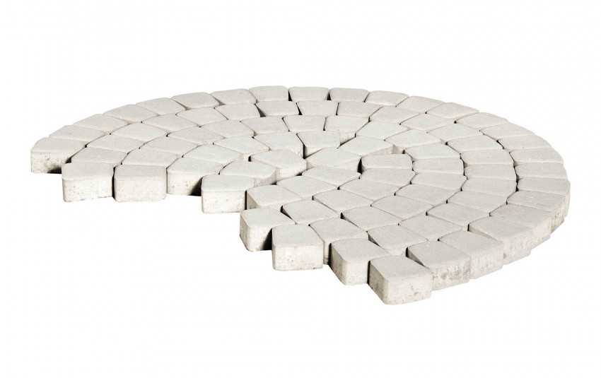 Тротуарная плитка BRAER Классико круговая, Белый, высота 60 мм