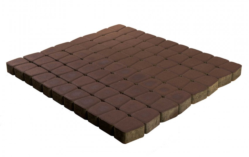 Тротуарная плитка BRAER Классико круговая, Коричневый, высота 60 мм