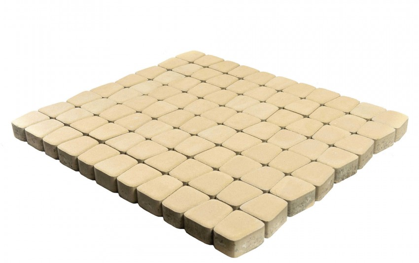 Тротуарная плитка BRAER Классико круговая, Песочный, высота 60 мм