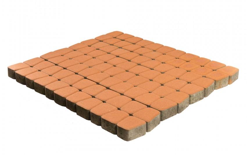 Тротуарная плитка BRAER Классико круговая, Янтарный, высота 60 мм