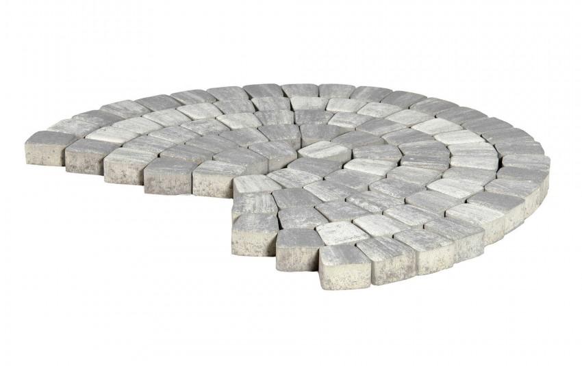 """Тротуарная плитка BRAER Классико круговая, Color Mix """"Туман"""", высота 60 мм"""