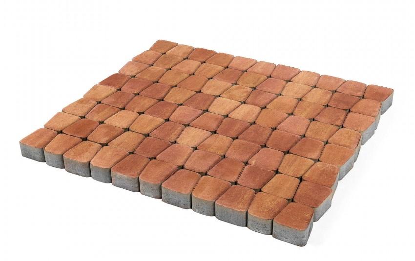 Тротуарная плитка BRAER Классико круговая, Рассвет, высота 60 мм