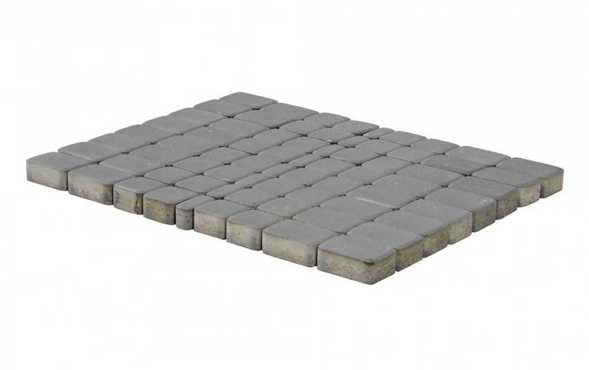 Тротуарная плитка BRAER Классико, Серый, высота 60 мм