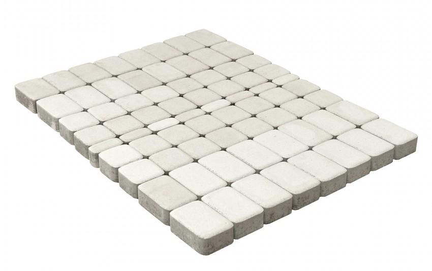 Тротуарная плитка BRAER Классико, Белый, высота 60 мм