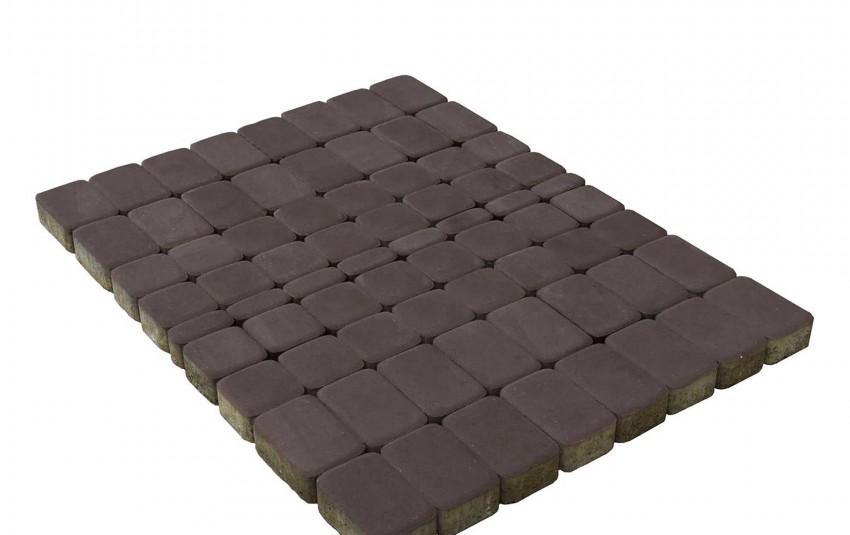 Тротуарная плитка BRAER Классико, Коричневый, высота 60 мм