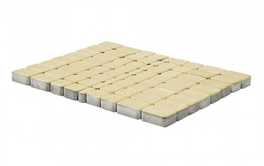 Тротуарная плитка BRAER Классико, Песочный, высота 60 мм