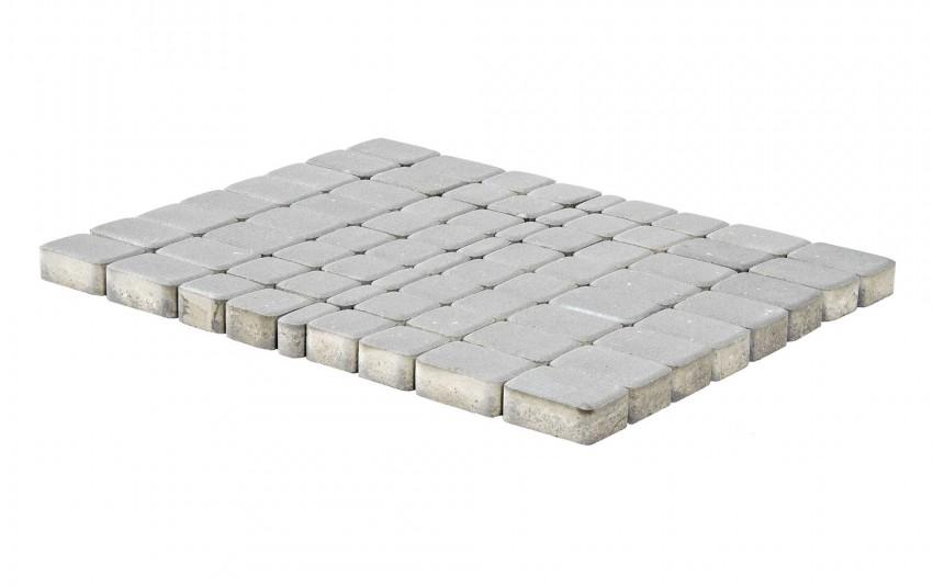 Тротуарная плитка BRAER Классико, Серебристый, высота 60 мм