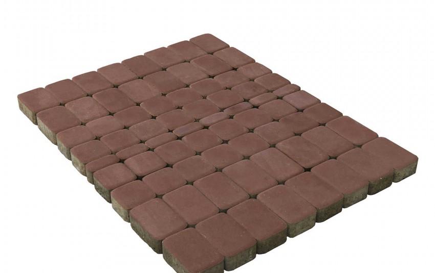 Тротуарная плитка BRAER Классико, Винный, высота 60 мм