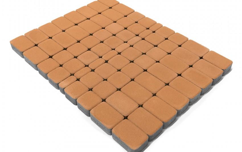 Тротуарная плитка BRAER Классико, Коралловый, высота 60 мм