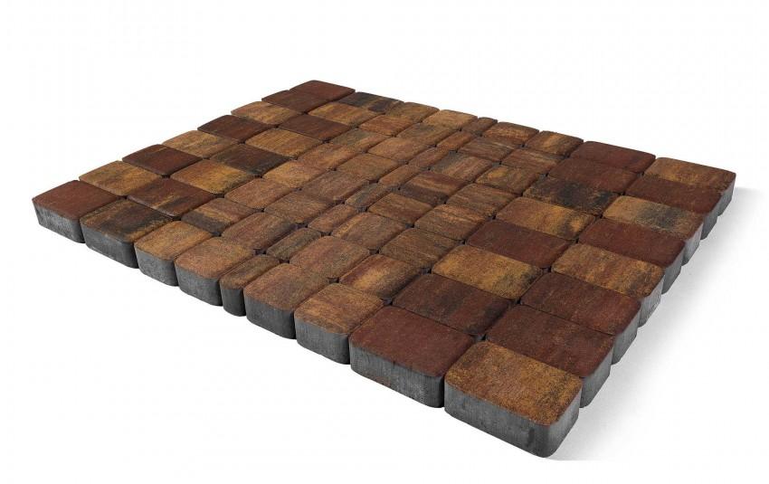 """Тротуарная плитка BRAER Классико, Color Mix """"Мальва"""", высота 60 мм"""