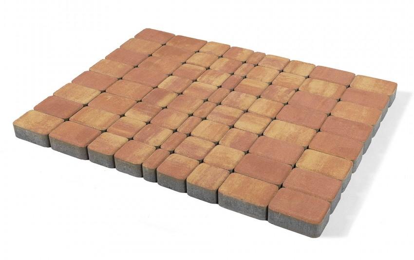 """Тротуарная плитка BRAER Классико, Color Mix """"Рассвет"""", высота 60 мм"""