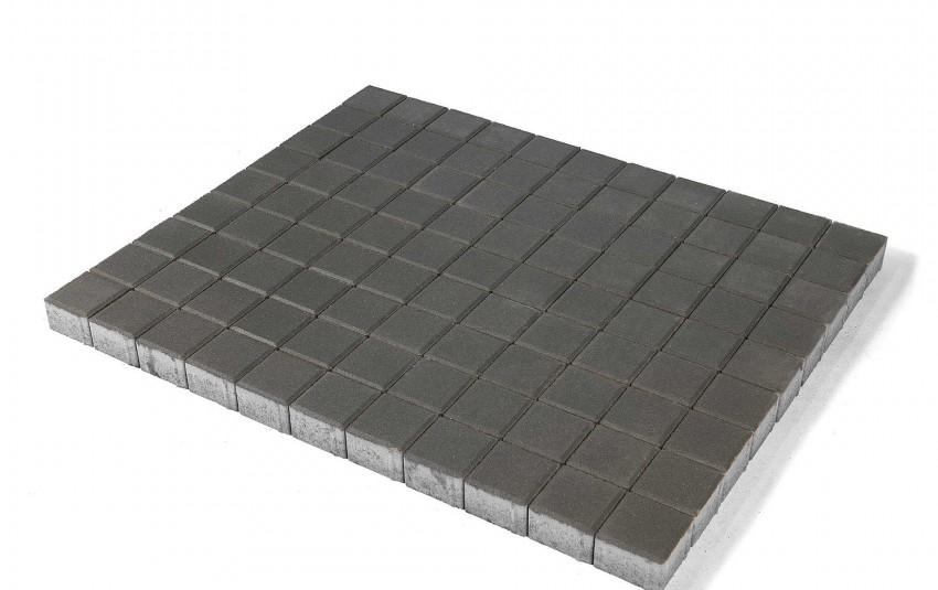 Тротуарная плитка BRAER Лувр, Серый, высота 60 мм