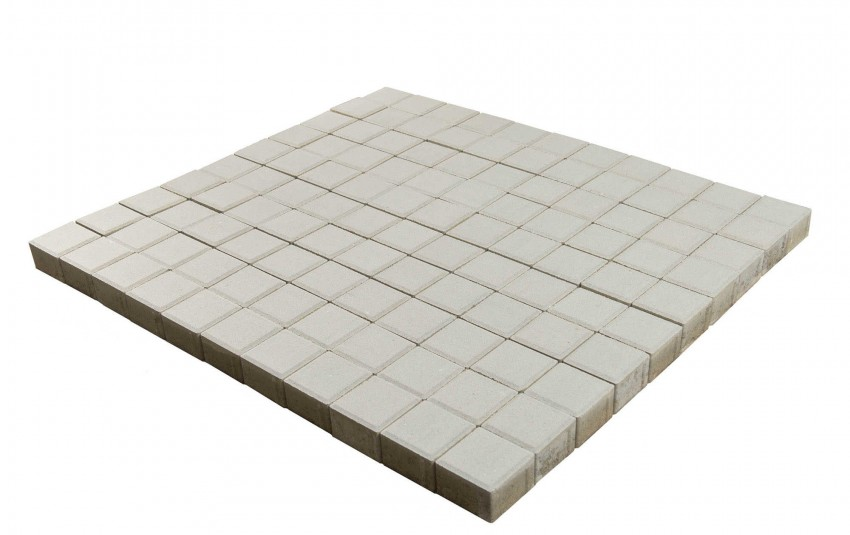 Тротуарная плитка BRAER Лувр, Белый, высота 60 мм