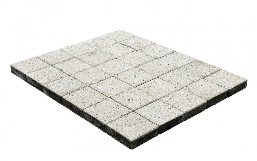 Тротуарная плитка BRAER Лувр, Гранит белый, высота 60 мм