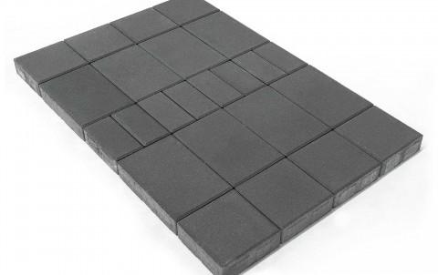 Тротуарная плитка BRAER Мозаика, Серый, высота 60 мм
