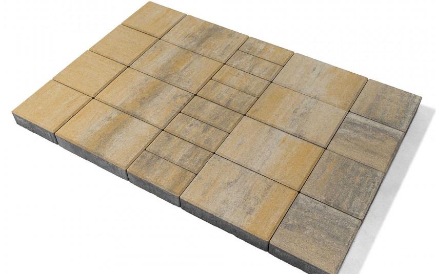 """Тротуарная плитка BRAER Мозаика, Color Mix """"Песчаник"""", высота 60 мм"""