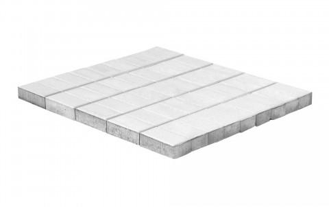 Тротуарная плитка BRAER Прямоугольник, Белый, высота 40 мм
