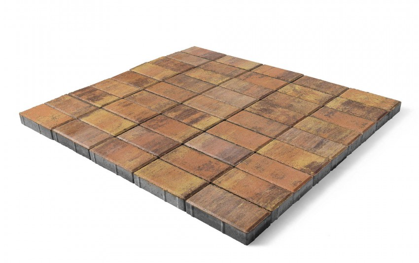 """Тротуарная плитка BRAER Прямоугольник, Color Mix """"Прайд"""", высота 40 мм"""