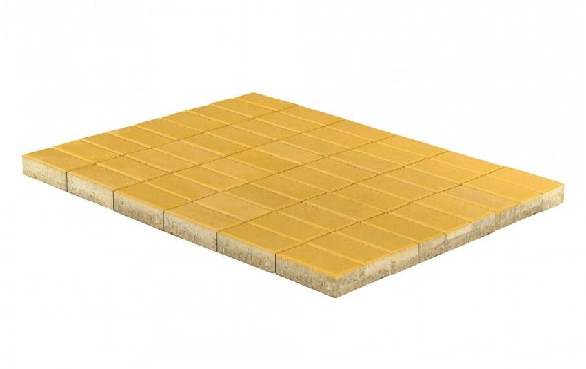 Тротуарная плитка BRAER Прямоугольник, Желтый, высота 60 мм