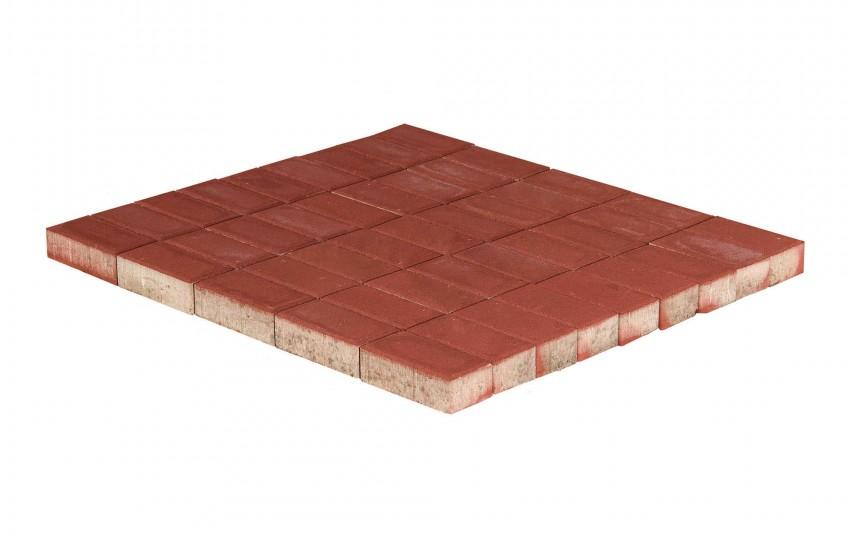 Тротуарная плитка BRAER Прямоугольник, Красный, высота 60 мм