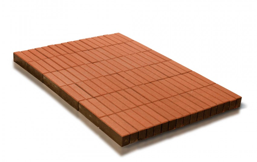 Тротуарная плитка BRAER Прямоугольник, Оранжевый, высота 60 мм