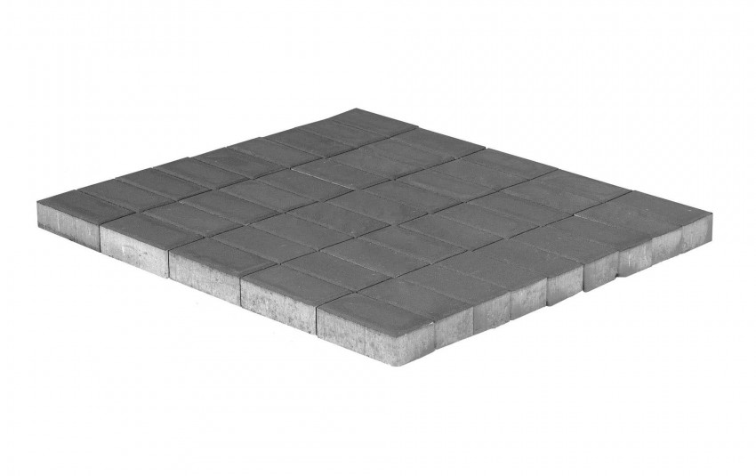 Тротуарная плитка BRAER Прямоугольник, Серый, высота 70 мм, двухслойная
