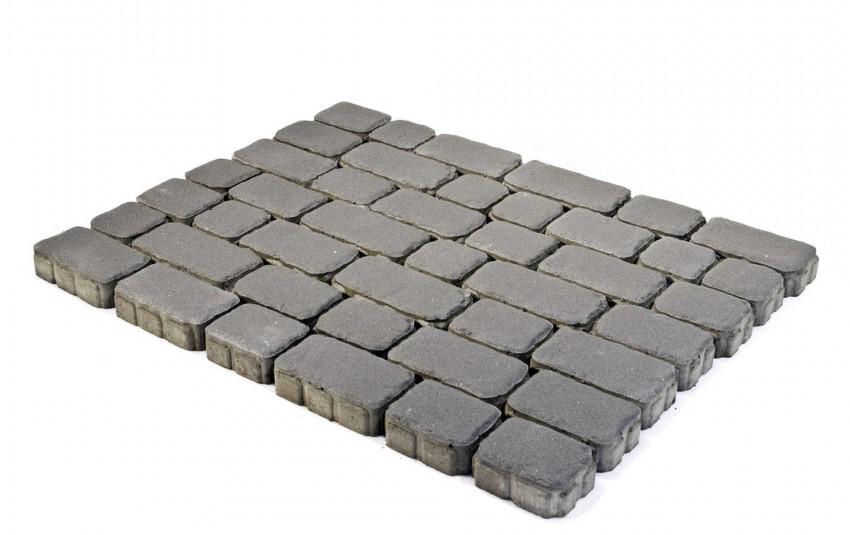 Тротуарная плитка BRAER Ривьера, Серый, высота 60 мм
