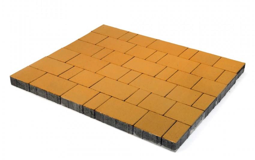 """Тротуарная плитка BRAER Старый город """"Ландхаус"""", Оранжевый, высота 60 мм"""