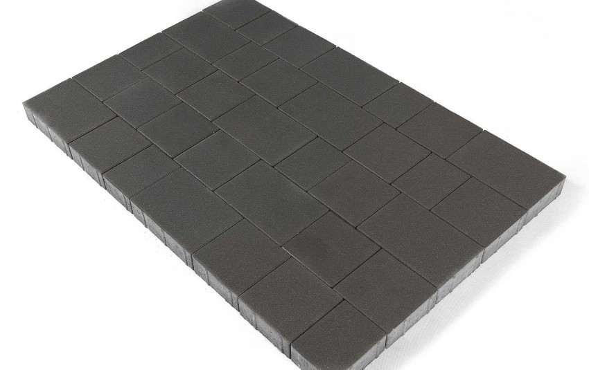 "Тротуарная плитка BRAER Старый город ""Ландхаус"", Серый, высота 80 мм"