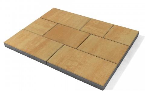 "Тротуарная плитка BRAER Триада, Color Mix ""Сахара"", высота 60 мм"