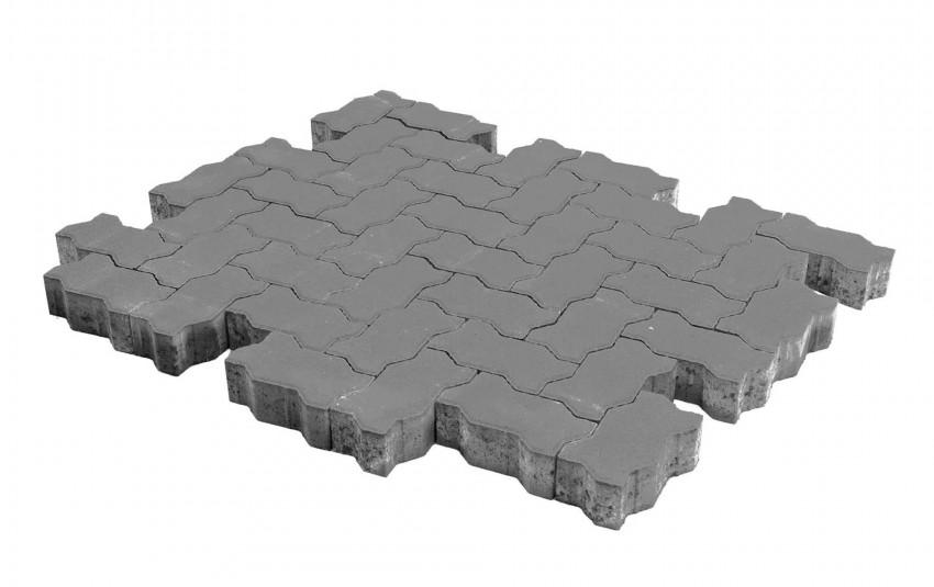 Тротуарная плитка BRAER Волна, Серый, высота 80 мм