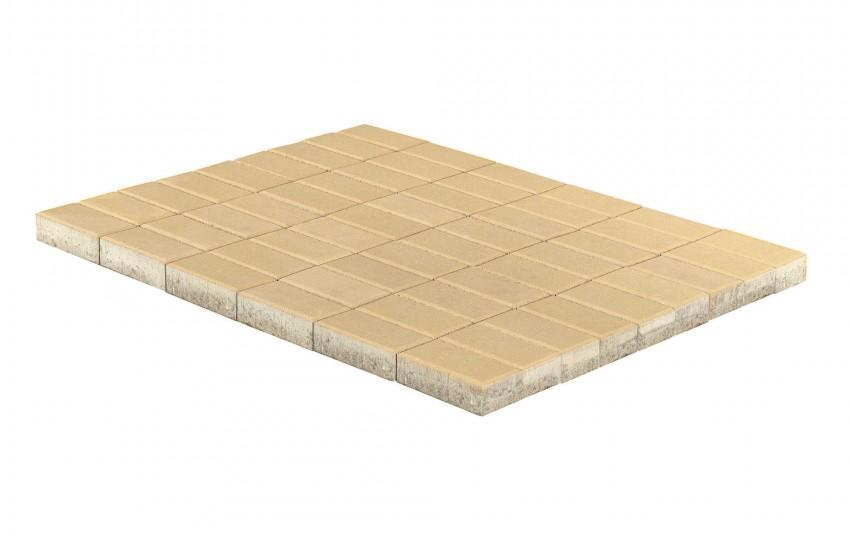 Тротуарная плитка BRAER Прямоугольник, Песочный, высота 40 мм