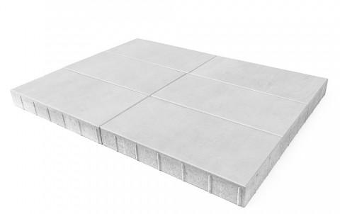 Тротуарная плитка BRAER Сити, Белый, высота 80 мм